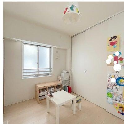 子供部屋がスッキリ見える収納の画像