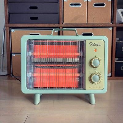 野外に問題なく運べる暖房器具の画像