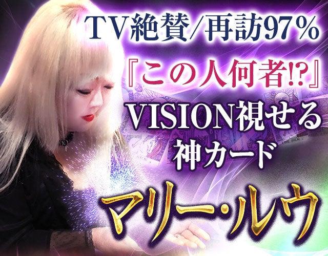 TV絶賛/再訪97%『この人何者!?』VISION視せる神カード/マリー・ルウ
