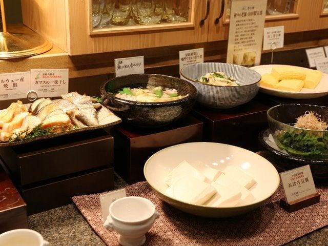 ホテルピエナ神戸の朝食ビュッフェには和食もあります。
