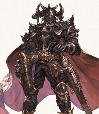 オルキスの傍にいる黒騎士