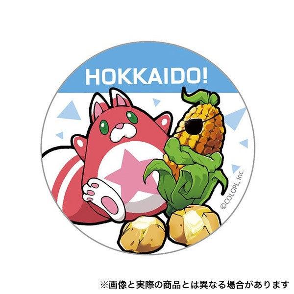 ご当地星たぬき缶バッジ (北海道)の画像