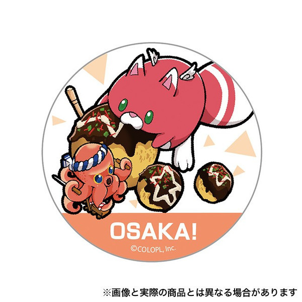 ご当地星たぬき缶バッジ (大阪)の画像