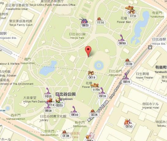 「日比谷公園」は「ディグダの巣」になりました!の画像
