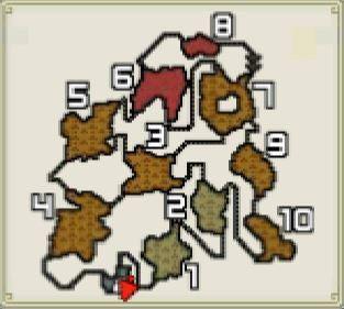 G★2「大鉱脈、発見さる!」とG★4「鎧・砕・斬の包囲網を超えて」のマップの画像