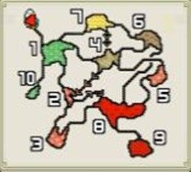 G★3「隠し味は燃石炭」、G★4「急募・炭鉱採掘求ム」のマップの画像