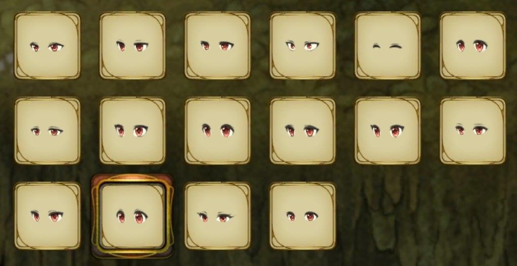 目の形の画像