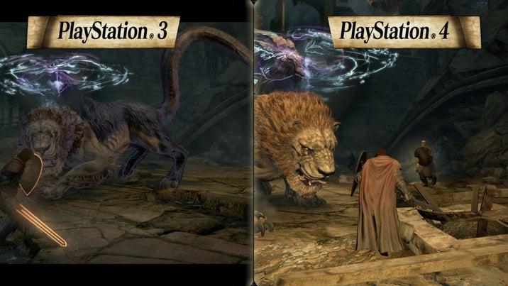 PS3版PS4版比較映像(モンスター篇)よりの画像