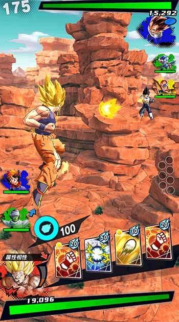 ドラゴンボールレジェンズ バトル中のゲーム画面