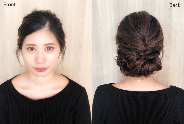 結婚式お呼ばれ髪型2019 複合技はこダサい 1日崩れないコツや写真